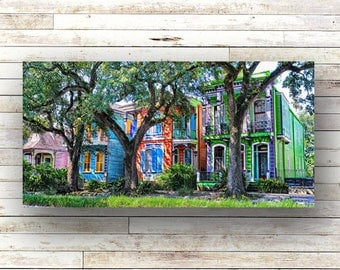New Orleans Art PAINTED LADIES of NOLA Doors Architecture  Photography Shutters Historic Building Birch Boxes Louisiana Art Wrought Iron