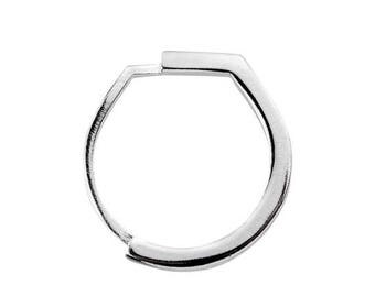 ON SALE Small Squared Statement 925 Silver Minimalist Ring - Step Collection - NEW