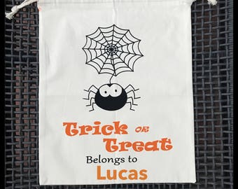 Trick or Treat personalized candy bag/Candy bag/loot bag/Halloween Candy Bag/First Halloween