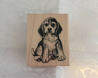 D051 Puppy Rubber Stamp