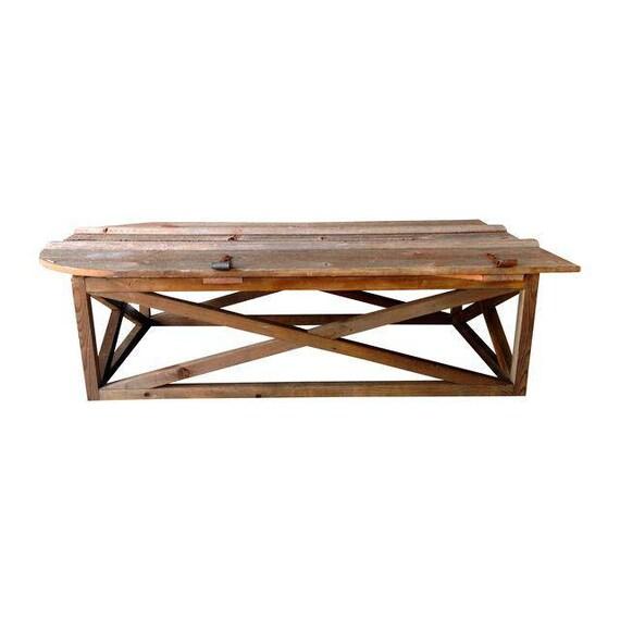 Old Door Coffee Tables For Sale: Coffee Table / Vintage Barn Door / Repurposed Farm Door Coffee