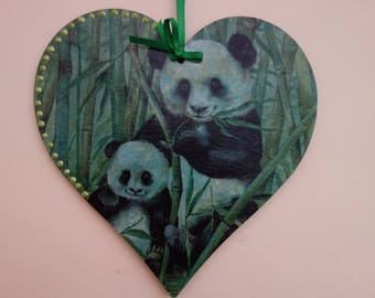 Decorated Wooden Hanging Heart
