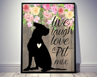 Pitbull Wall Art pitbull art | etsy