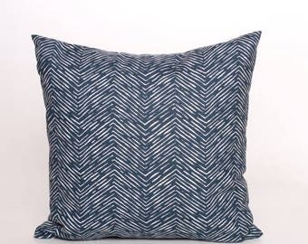On Sale July Only Navy Blue Throw Pillow Cover,  designed for 16, 18, or 20 inch inserts shown in Premier Prints Cameron Pattern, Home Decor