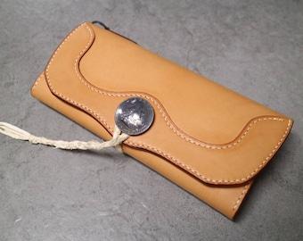 Handstitched Long Wallet *Genuine Leather*