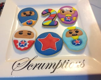 15 Go Jetters Iced Cookies Platter.