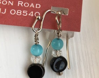 Petite Pop of Color dangle earrings - proceeds benefit Avela!