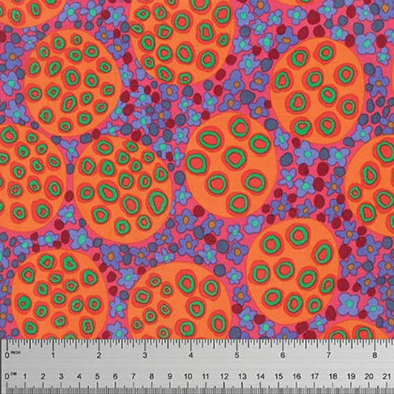 PODS ROSE BM054 Brandon Mably for Kaffe Fassett Collective Sold in 1/2 yd increments