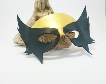 Leather Hawkgirl Mask SuperHero Villain mask minimal adult