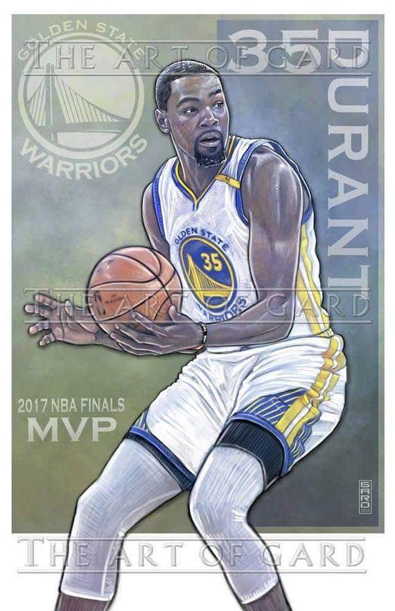 Kevin Durant MVP 11X17 Art Print