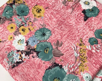 Gorgeous Floral Vintage Pink Fabric 2m
