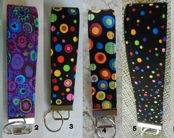 Dots,Dots and more dots Key Fob, Key chain, Wristlet, Camera Strap
