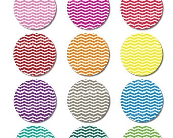 50% OFF CUPCAKE TOPPERS Rainbow Chevron - Instant Download - Cake bunting - Party decoration