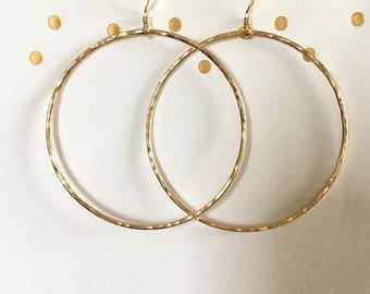 Round Gold Filled Hoops Large