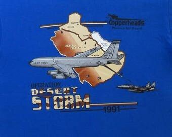 90's Vintage T Shirt Copperheads Phoenix Air Guard Operation Desert Storm Military