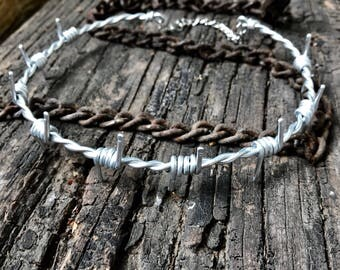 Thick Barbed Wire Choker Necklace