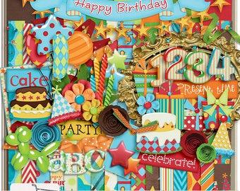 Let's Celebrate Birthday Digital Scrapbook Kit