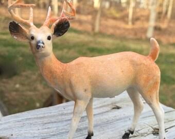 SALE Reindeer Deer Hong Kong Plastic 1950s Mid Century Retro Plastic Reindeer Holiday Decor