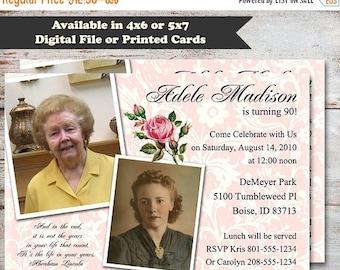 Th Birthday Invitation Etsy - 90th birthday invitation images