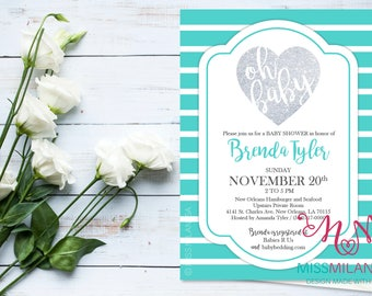 Tiffany Baby Shower Invitation, Baby Shower Invitation, Baby Shower  Invites, Tiffany Baby Shower