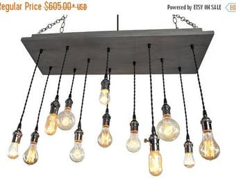 FLASH SALE Nostalgic Edison Bulb Chandelier: Industrial Chic