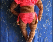 Curvy Crochet Doll Pattern, Full Figured Crochet Doll