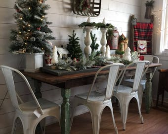 Salvaged Farmhouse Table, Dinner Table, Kitchen Table, Countryliving Style,  Harvest Table