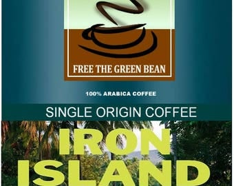 Iron Island Celebes Kalossi whole bean fresh roasted coffee, classic Indonesian coffee at it's best! 12oz