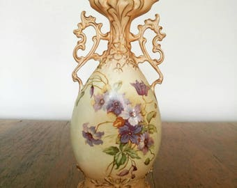 Vintage Art Nouveau Vase Floral home decoration vintage pottery