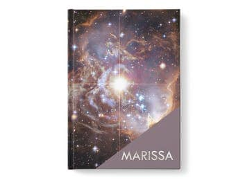 Galaxy Stars Personalized Journal, Modern Universe Pattern, Personalized Journals for Women, Gift jn0006