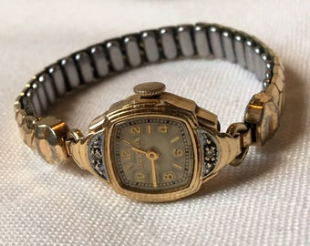 vintage 1940s Bulova women's dress watch