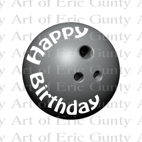 Bowling League Birthday - Edible Cake and Cupcake Topper For Birthday's and Parties! - D22664