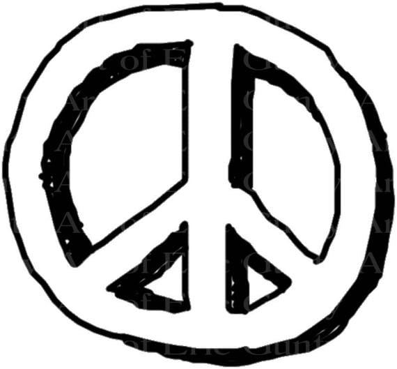 Hippie Peace Sign Birthday - Edible Cake and Cupcake Topper For Birthday's and Parties! - D22967