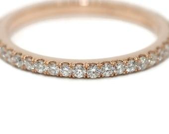 Half eternity diamond band, Wedding Diamond Band