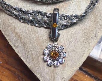 Crystal Flower Choker Necklace-Trending NEW