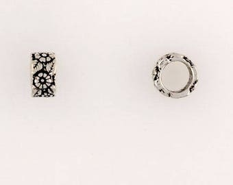 Sterling Silver Large Hole European Beads, Choice of Design