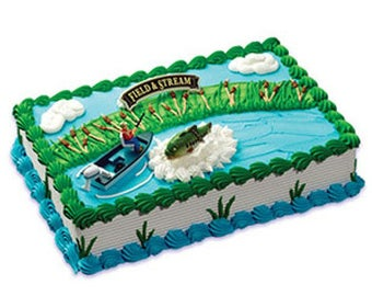 Field And Stream Fishing Cake Decorations