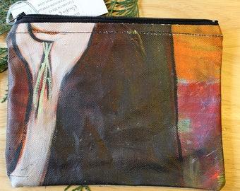 42 CEDAR STEMS - large reclaimed canvas zipper pouch