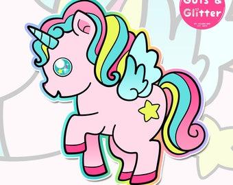 Kawaii Unicorn Holographic Sticker