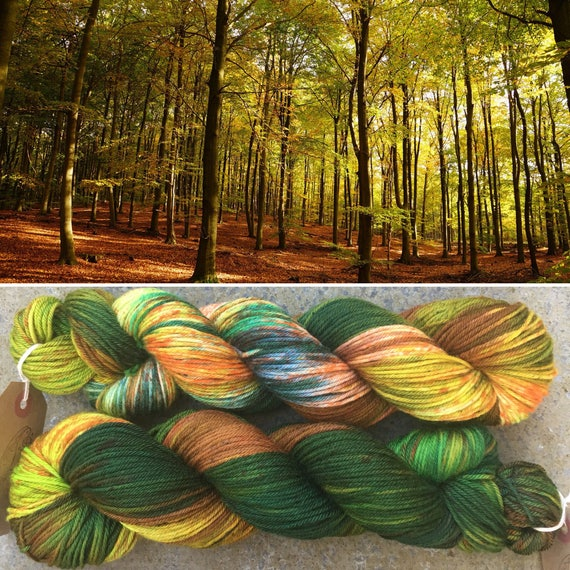 Autumn is Coming DK, indie dyed merino nylon yarn