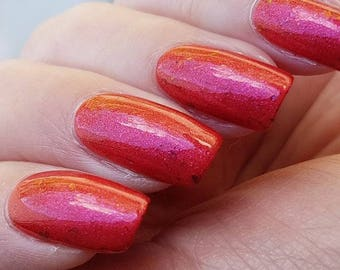 Journey 2 Mars~Out Of Space Collection Red Crelly Shimmer UCC Flakies 10ML