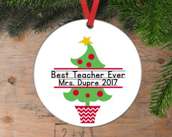 Personalized Teacher Christmas Ornament - Christmas Gift for Teacher