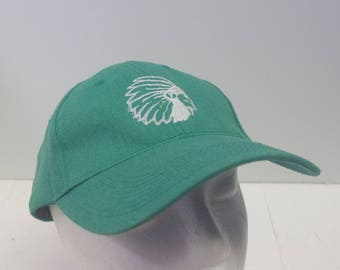 Low Profile Native American Chief hat cap green dad hat