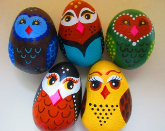 OWLS - Painted Rocks