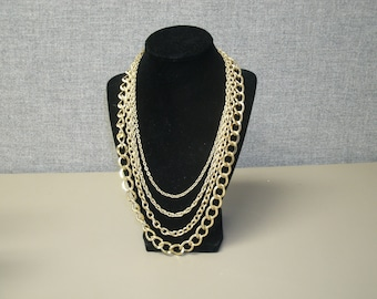 Vintage Necklace with four chains