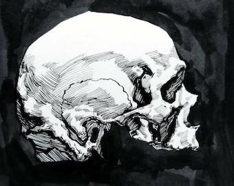 6x6 Skull Ink