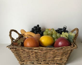 Assorted Vintage Plastic Fruit * Faux Fruit * Artificial Fruit * Realistic Fruit * Crafts * Table Centerpiece