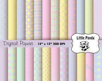 70% OFF SALE Easter Digital Paper Pack 24 jpg files 12 x 12  - Instant Download - D271
