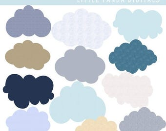 60% OFF SALE Clouds Digital Clip Art - Personal and Commercial Use - Instant Download - C41