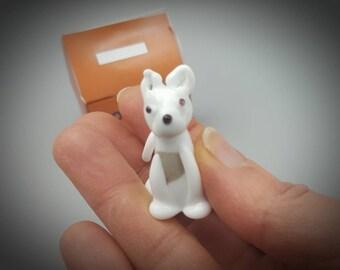 Sasha - the grey husky, glass dog , mini glass figure, fun accent, collectable glass